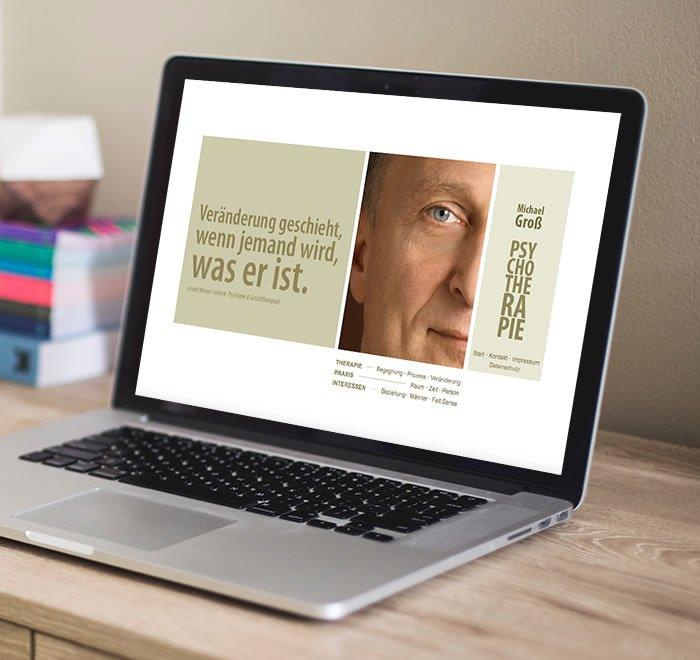 Groß Psychotherapie - Website